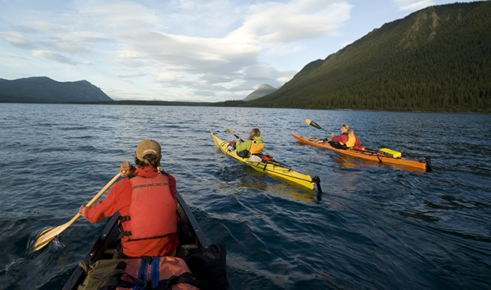 kayaking on Tagish Lake